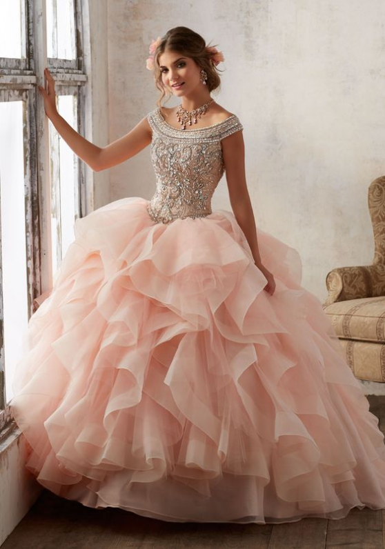 7d3cb1c2930f Bright Blush Pink Tulle Quinceanera Dresses Ball Gowns Strapless Sweet 16  Dress Tulle Long Cute Evening Dresses Party Gown