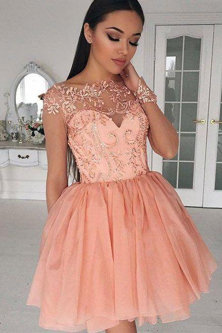 Cap Sleeve Homecoming Dresses Mini Homecoming Dresses